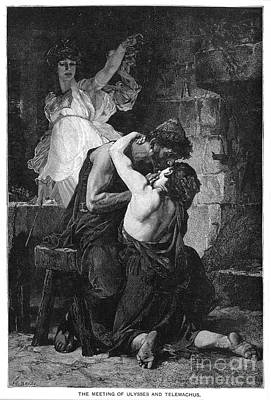 Ulysses And Telemachus Print by Granger
