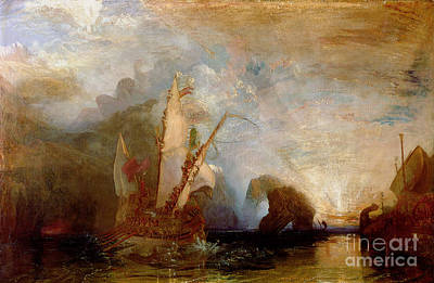 Ship. Galleon Painting - Ulysses Deriding Polyphemus by Joseph Mallord William Turner