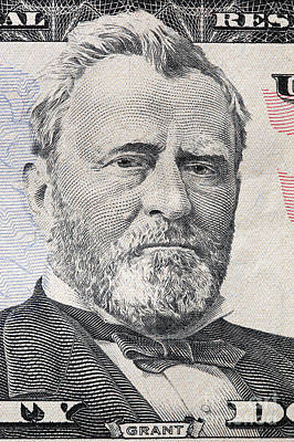 Finance Photograph - Ulysses S. Grant Portrait On A Twenty Dollar Bill by Michal Bednarek
