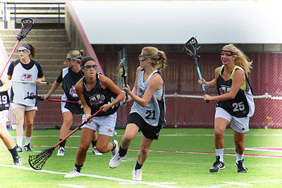 Umass Lax Practice Print by Mike Martin
