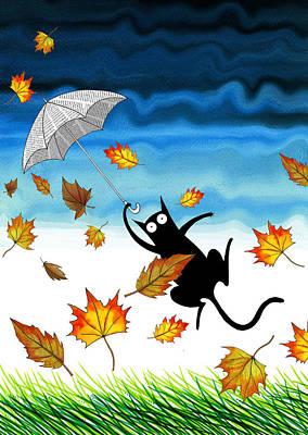 Breeze Mixed Media - Umbrella by Andrew Hitchen