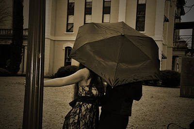 Photograph - Umbrella Love by Cherie Haines