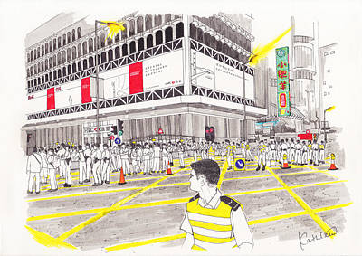 Occupy Drawing - Umbrella Revolution 4 Hk 2014 by Kathleen Wong