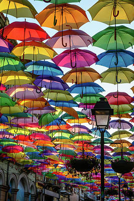 Umbrella Sky Print by Marco Oliveira