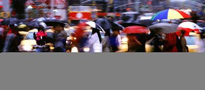 Umbrellas Print by Brad Rickerby