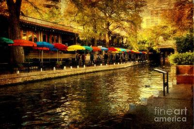 Umbrellas In The Riverwalk Original by Iris Greenwell