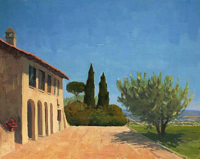 Italy Farmhouse Painting - Umbrian Farmhouse by Kelly Medford