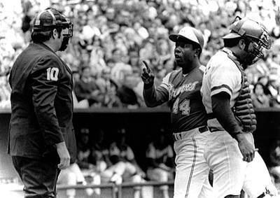 Umpire John Mcsherry Listens To Hank Print by Everett