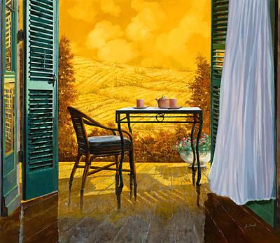 Shutters Painting - Un Caldo Pomeriggio D by Guido Borelli