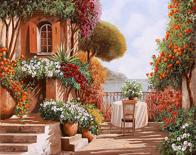 Una Sedia In Attesa Print by Guido Borelli