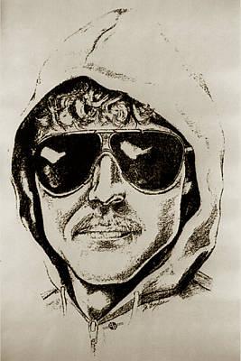 Unabomber Ted Kaczynski Police Sketch 2 Original by Tony Rubino