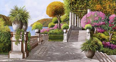 Columns Painting - Un'altra Scalinata by Guido Borelli