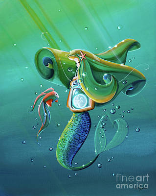 Little Mermaid Painting - Uncharted Waters by Cindy Thornton