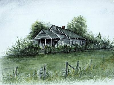 Uncle Luther's Home Print by Robin Martin Parrish