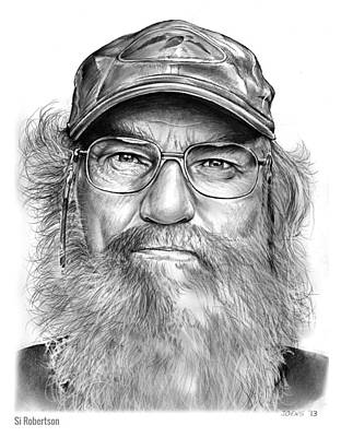 Reality Drawing - Uncle Si by Greg Joens