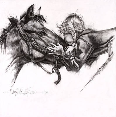 Ranching Drawing - Unconditioal Love by Virgil Stephens