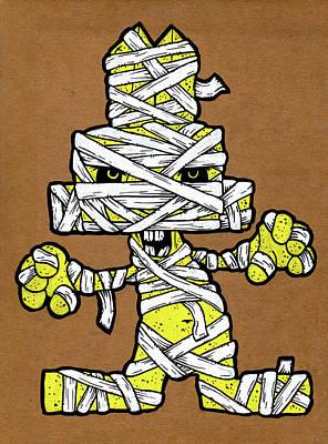 Undead Bunny Print by Bizarre Bunny