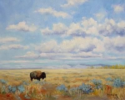 Prairie Painting - Under A Big Sky by Debra Mickelson