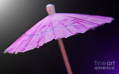 Abstract Digital Art Photograph - Under A Pink Umbrella by Krissy Katsimbras