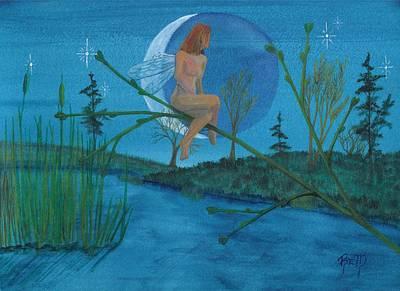 Under A Spring Moon... Print by Robert Meszaros