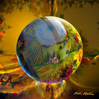 Sphere Painting - Under A Tuscan Sun by Robin Moline