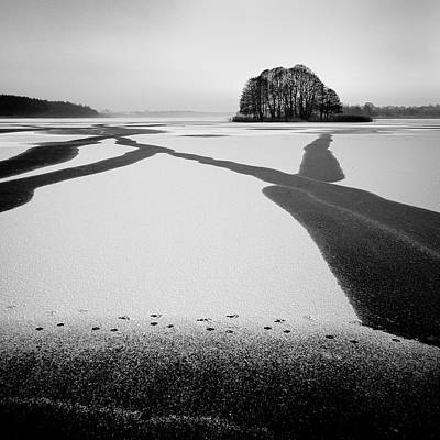 Footprints Photograph - Under-ice Streams by Przemyslaw Wielicki