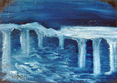 Painting - Under Oceans by Suzanne Surber