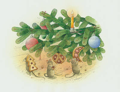 Under The  Christmas Tree Original by Kestutis Kasparavicius