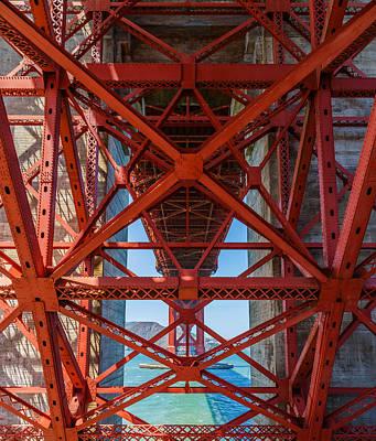 Under The Golden Gate Bridge Print by Sarit Sotangkur