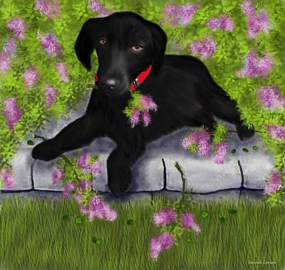 Lab Digital Art - Under The Lilacs by Sannel Larson