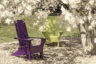 Under The Magnolia Tree Print by Tom Mc Nemar