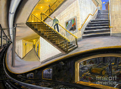 Surreal Painting - Under The Platform by Arthur Robins