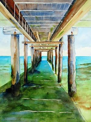 Pylon Painting - Under The Playa Paraiso Pier by Carlin Blahnik