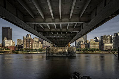 Under The Roberto Clemente Bridge Print by Rick Berk