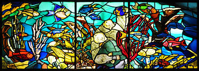 Under The Sea - Stained Glass Print by Bill Cannon