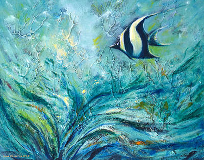 Under The Sea 9 Print by Gina De Gorna