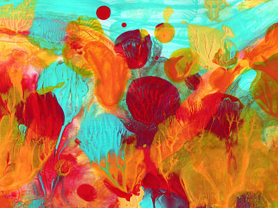 Under The Sea Abstract 1 Print by Amy Vangsgard