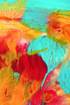Beach Landscape Mixed Media - Under The Sea Abstract 5 by Amy Vangsgard