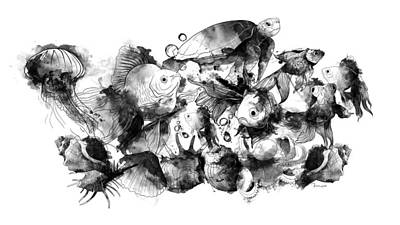 Ipad Drawing - Under The Sea by Mark Taylor