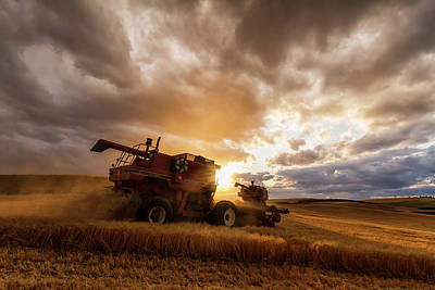 Machinery Photograph - Under Threatening Skies by Mark Kiver