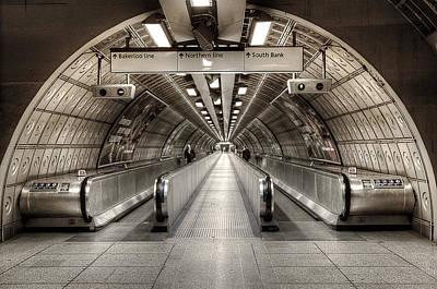 London Tube Mixed Media - Underground Life by Svetlana Sewell