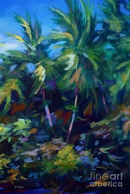 Bahamas Landscape Painting - Undergrowth by John Clark