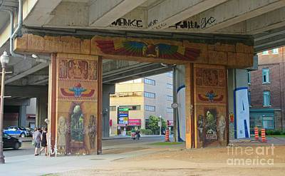 Mural Mixed Media - Underpass Mural by John Malone
