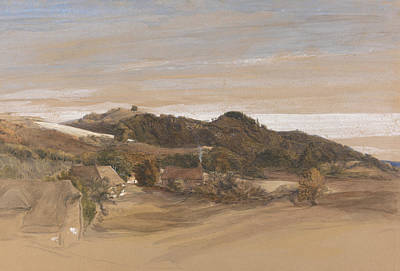 Kent Painting - Underriver Hills, Near Sevenoaks, Kent by Samuel Palmer