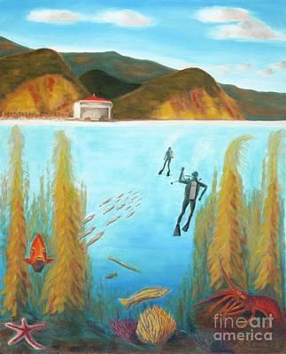 Underwater Catalina Print by Nicolas Nomicos