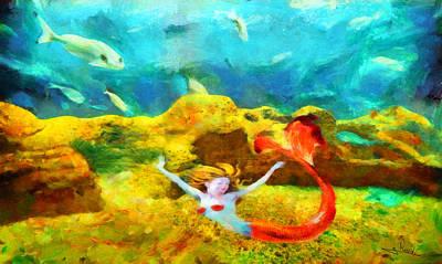 Wetland Painting - Underwater by George Rossidis