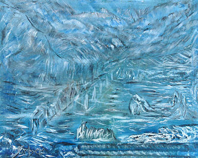 Painting - Underwater Ruins by Suzanne Surber