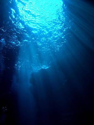 Undersea Photograph - Underwater Sunlight by Takau99