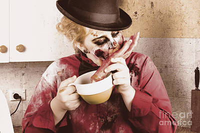 Unhealthy Zombie Eating Finger Food Print by Jorgo Photography - Wall Art Gallery
