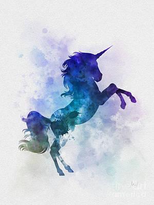 Unicorn Mixed Media - Unicorn by Rebecca Jenkins